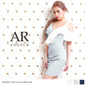 [フリルスリーブバイカラータイトミニドレス]Angel R(エンジェルアール)|AR8226