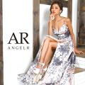 [フラワープリントフレアロングドレス]Angel R(エンジェルアール)|AR8236