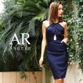 [デコルテタックデザインウエストカットタイトドレス]Angel R(エンジェルアール)|AR8237