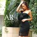 [デコルテリボン異素材ミックスタイトドレス]Angel R(エンジェルアール) AR8238