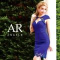 [デコルテデザインカット異素材ミックスタイトミニドレス]Angel R(エンジェルアール)|AR8240