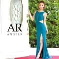 【予約(ブラック)3月上旬より発送】[サイドシアーデザインカットタイトロングドレス]Angel R(エンジェルアール)|AR8243