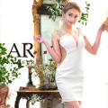 【予約(ホワイト/M)2月下旬から3月上旬発送】ミニドレス タイト ワンピース ノースリーブ ビジュー パーティー|AngelR(エンジェルアール)|AR8303