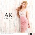 [スカラップVネック総レースミニドレス]Angel R(エンジェルアール)|AR8319