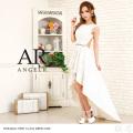 [フレンチスリーブフラワープリントハイ&ロードレス]Angel R(エンジェルアール)|AR8321