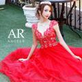 [バックシアーレースフレアロングドレス]Angel R(エンジェルアール)|AR8330
