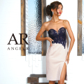 [配色ハートカットレースタイトニーレングスドレス]Angel R(エンジェルアール)|AR8331