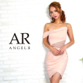 [ワンショルダーウエストシアーデザインカットタイトミニドレス]Angel R(エンジェルアール)|AR8333