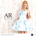 [デコルテワンポイントビジューノースリーブワンピースドレス]Angel R(エンジェルアール)|AR8607