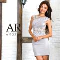 [フラワーモチーフギャザーデザインタイトミニドレス]Angel R(エンジェルアール)|AR8613