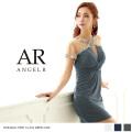 [デコルテ&スリーブシースルータイトミニドレス]Angel R(エンジェルアール)|AR8707
