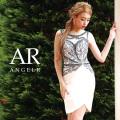 [ビジューノースリーブデザインカットスカートタイトミニドレス]Angel R(エンジェルアール)|AR8811