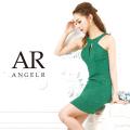 [ローズ柄ラメバックレースアップタイトミニドレス]AngelR(エンジェルアール)|AR9101