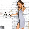 [ラインデザインスリットタイトミニドレス]AngelR(エンジェルアール)|AR9105