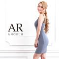 【予約】[バックビジューデザインタイトミニドレス]AngelR(エンジェルアール)|AR9207【5月下旬〜6月上旬頃より発送】
