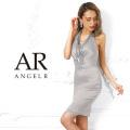 [ビーズネックレス付きホルターネックタイトミニドレス]AngelR(エンジェルアール)|AR9213