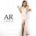 【予約(ブラック/S・M)(シャンパンベージュ/S・M)3月下旬から4月上旬より発送】[Vカットフレアスリーブタイトロングドレス]AngelR(エンジェルアール)|AR9214