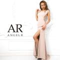 [サイドレースシアーフレンチスリーブタイトロングドレス]AngelR(エンジェルアール)|AR9216