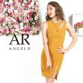 [デコルテファスナーカットデザインタイトミニドレス]AngelR(エンジェルアール)|AR9220
