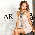 [デコルテVデザインビジュータイトミニドレス]AngelR(エンジェルアール)|AR9236