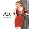 [フラワーレースデザインフリルタイトミニドレス]AngelR(エンジェルアール)|AR9239