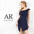 [レース柄アシンメトリーデザインタイトミニドレス]Angel R(エンジェルアール)|AR9301