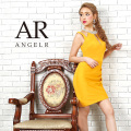 【予約(マスタード/S・M)(ピンク/S・M)(ブラック/M)6月上旬から中旬発送】[オーロラビジューショルダーデザインタイトミニドレス]Angel R(エンジェルアール)|AR9302