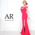 [レース柄デコルテカットビジュータイトロングドレス]AngelR(エンジェルアール)|AR9310-a
