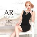 [デコルテスリットサイドシアーパール&ビジュータイトミニドレス]AngelR(エンジェルアール)|AR9320