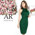 [ネックリボンニーレングスタイトドレス]AngelR(エンジェルアール)|AR9326