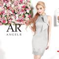 [ネックリボンレース裾タイトミニドレス]AngelR(エンジェルアール)|AR9327
