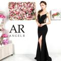 【予約(ブラック/S・M)(ホワイト/S・M)(ピンクベージュ/S)(グリーン/S)11月下旬から12月上旬発送】[バックビジューデザインタイトロングドレス]AngelR(エンジェルアール)|AR9331