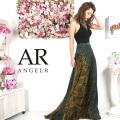 [スカーフ柄ホルターネックフレアロングドレス]AngelR(エンジェルアール)|AR9334