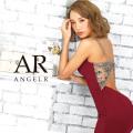 【予約[(ベージュ/S・M)12月中旬から下旬発送][(ブラック/S・M)1月上旬から中旬発送]】[バックビジュー裾レースタイトミニドレス]AngelR(エンジェルアール)|AR9339