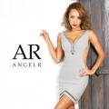 【予約(グレー/S・M)(ネイビー/S)(ピンクベージュ/S)2月下旬から3月上旬発送】[デコルテラインビジュータイトミニドレス]AngelR(エンジェルアール)|AR9350