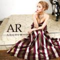 [ストライプ柄ハートカットフレアロングドレス]AngelR(エンジェルアール)|AR9401