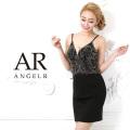 [メタリックカラービジューシースルータイトミニドレス]AngelR(エンジェルアール)|AR9404