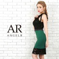 [アメスリレース配色タイトミニドレス]Angel R(エンジェルアール)|AR9801