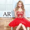 【予約】[ハートカットビジューフレアミニドレス]Angel R(エンジェルアール)|AR9803【5月中旬〜下旬より発送】