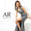 [ラメ生地サイドシアーノースリーブタイトロングドレス]AngelR(エンジェルアール)|AR9815