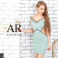 [ウエストバックシアーデザインタイトミニドレス]AngelR(エンジェルアール) AR9820