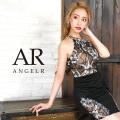 [フラワーデザイン切替えタイトミニドレス]AngelR(エンジェルアール)|AR9830