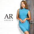 [ボタンデザインハイネックバンデージミニドレス]AngelR(エンジェルアール)|AR9910