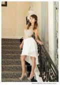 胸元キラキラプリーツスカートミニドレス|高級キャバドレスAngelR(エンジェルアール)|(AR3613)