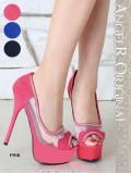 【最新作パンプス】ヒール14.5cm,キラキラ,ラインストーン,デザイン,靴(SH012)