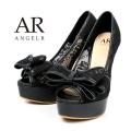 [リボン付きフラワーレースハイヒール]AngelR(エンジェルアール)|SH024LI