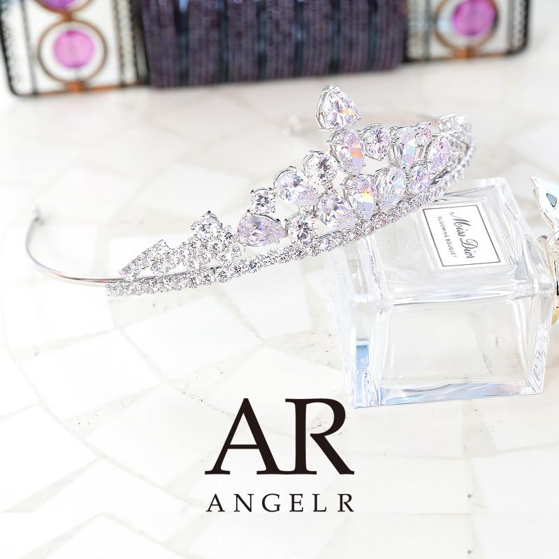 [ストーン&ビジューウェディングティアラ]AngelR(エンジェルアール)|TH036