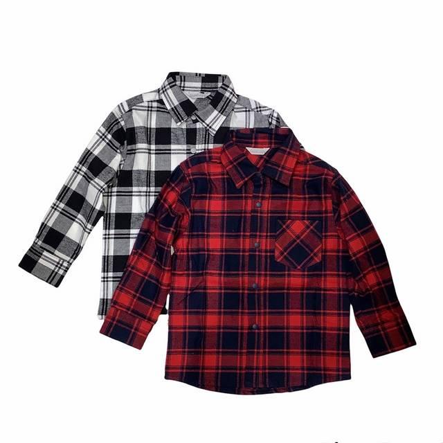 【日本製 子供服】 チェックネルシャツ [80~140cm]
