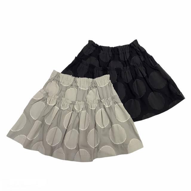 【日本製 ベビー 子供 服】 水玉柄フレアスカート [80~150cm]