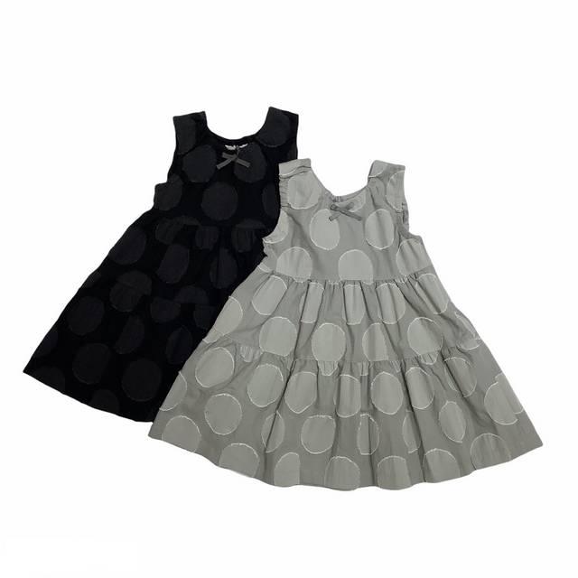 【日本製 子供服】 大水玉ジャンパースカート [80~140cm]